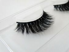 3D Soft real mink fur Handmade crossing false lashes individual thick eyelash
