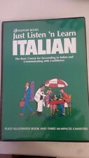 Just Listen 'N Learn Italian by Brian Hill (Author)- BOOK AND 3 CASSETTES