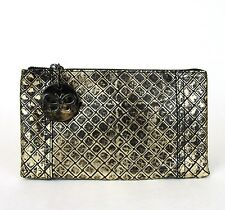 New Auth BOTTEGA VENETA Intrecciomirage Leather Clutch Pouch Bag, 301496 8414