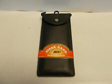 """Lot of 2 Bic Cigar Cases.  Each holds up to 3 7"""" cigars.  IU26-2"""
