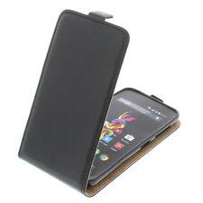 Funda para Archos 40d Titanio protectora teléfono móvil con tapa Negro