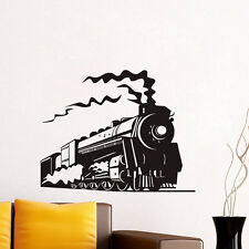 Trainsport Removable Sticker For Bedroom Art Mural Steam Train Vinyl Wall Decal
