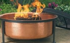 HAMMERED COPPER FIRE PIT Grill Set w/ Cover Outdoor BBQ Patio Furniture Firepit