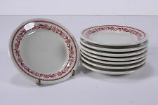 "8 Buffalo China 1953 Dessert/Bread Plates Restaurant Ware 5 5/8"" Diameter"