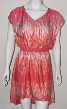 EXPRESS Multi color Slouch top cocktail party fishtail sexy mini dress Sz S