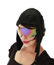 Rainbow Goggles Futuristic Pilot Glasses Adult Halloween Costume Accessory