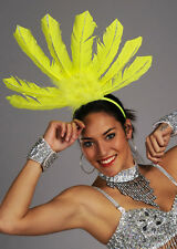 Rio Carnival Showgirl Yellow Feather Headpiece
