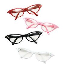 Red Glasses Grease Pink Ladies 1950S Rock N Roll Fancy Dress