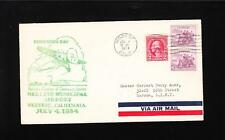 US Airport Dedication Modesto CA Air Mail 1934 ONLY 492 Flown Cover & Insert z83