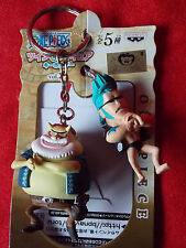 NEW! ONE PIECE FRANKY & TOM Twin Keyring /  VINYL FIGURE UK DESPATCH