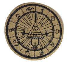 """Gravity Falls Mysteries BILL CIPHER WHEEL  3"""" Logo Patch - FREE S&H (GFPA-01)"""