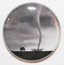 "1"" (25mm) Tornado Hurricane Twister Button Badge Pin - High Quality"