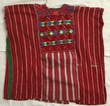 Vintage Guatemalan Huipil Hand Woven & Embroidered Mexican Shirt/Art Work