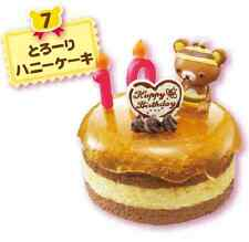 Re-ment Rilakkuma Bear Mini Happy Birthday Cake 07 Honey Cake