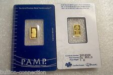 NEW ~MINT SEALED 1 GRAM GOLD FORTUNA PAMP SUISSE .9999 PURE GOLD.