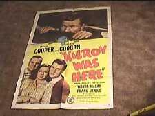 KILROY WAS HERE  1947 ORIG MOVIE POSTER JACKIE COOPER