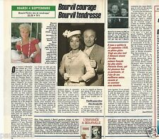 Coupure de presse Clipping 1990 Bourvil & Pierrette Bruno  (1 page 1/2)