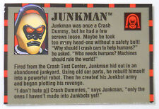 VINTAGE! 1992 Tyco Crash Dummies Replacement Filecard-Junkman