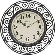 "NEW WESTCLOX 32021 12"" ROUND WROUGHT IRON QUARTZ WALL CLOCK 3953874"
