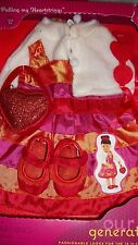 "American Our Generation Pulling My heartstrings PInk dress Clothes 18"" Doll Girl"