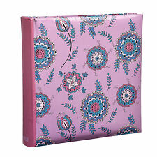 Arpan 6x4 Colorful Flowers Pink Slip In Memo Photo Album For 200 Photos AL-9152