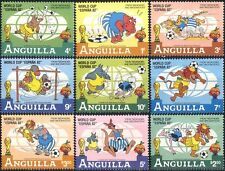 Anguilla 1982 Disney/World Cup Football/Soccer/WC/Sports/Animation 9v set n42574