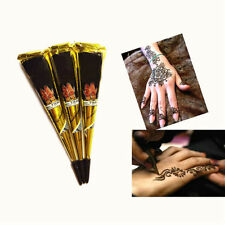 Black Temporary Tattoo kit Natural Herbal Henna Cones Body Art Paint Mehandi Ink