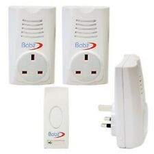 Triple Wireless Plug in Chime Set Door Bell Approx 80M Range with Socket