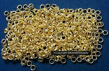 4mm Gold plated split rings jump rings 500 pcs clasp or charm attachment  fpc278