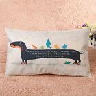 30 x 50cm Cartoon Dog pillowcases Pillow Cover Linen Cotton Cushion Home Decor