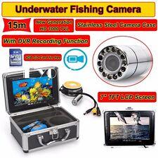 """15M 7"""" LCD Fischsucher HD 1000TVL Rostfrei Unterwasser DVR Aufnahme Kamera 4GB"""