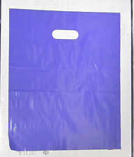 "50 15"" x 18"" Purple GLOSSY Low-Density Plastic Merchandise Bags Boutique Shop"