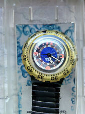 """orologio swatch SCUBA modello """" BLACK GONDOLA"""" SDM101 anno 1994 raro"""