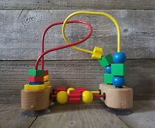 MELISSA, & DOUG BABY TODDLER FIRST BRIGHT COLORFUL WOODEN BEADS TOY highchair