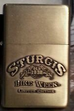 Sturgis Limited Edition Bike week lighter gold Tone NIB With Certificate