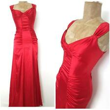 Fiesta Salsa Dress Size XSmall Ruched Bandage Red Satin Formal Cocktail Party