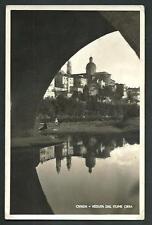 Ovada ( Alessandria ) :Veduta dal Fiume Orba - cartolina viaggiata nel 1943