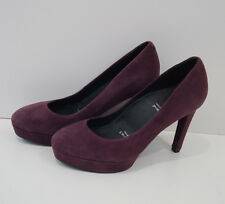 ROCKPORT BY ADIDAS Burgundy Suede High Heeled Platform Court Shoes UK5.5