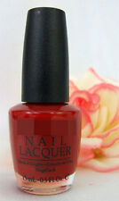OPI Nail Polish Lacquer O'Hare & Nails Look Great! .5 oz Bright Shiny Red Peach