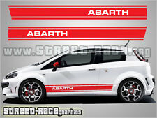 Fiat Punto Abarth side stripe stickers 001