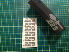 "AR 15 Magazine "".223"" Sticker 6 Pack, AR 15, AK 47, GREY, Free Shipping!"