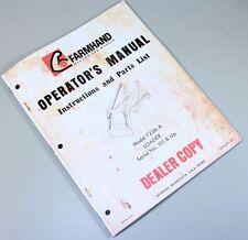 FARMHAND F236-A LOADER OPERATORS INSTRUCTIONS PARTS LIST MANUAL CATALOG TRACTOR