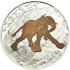 CAVE OF TADRART Prehistoric Art Cave Paintings Silver Coin 1$ Niue Islands 2011