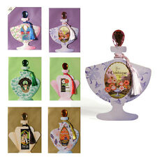 6 Art Deco Perfume Bottle Greeting Cards with Gemstone Stoppers & Silky Tassel