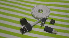 2 in 1 New Sync Data USB Cable Charger High Speed Micro for iPhone 5 6 Android