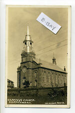 Canada, Nova Scotia Chéticamp RPPC real photo, St Peter's Church