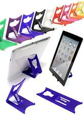 "Apple iPad Holder, Galaxy Tab 9"" 10"" Computer Tablet BLUE iClip Folding Stand"