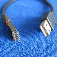 computer motherboard Internal USB 9pin to External A Male data extension cable