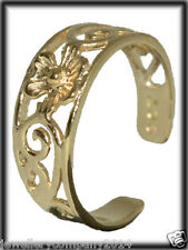 9 Carat yellow solid gold flower design toe ring TR25 Jewellery Company