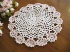 Chic Pink Flower Hand Crochet Cotton Doily A